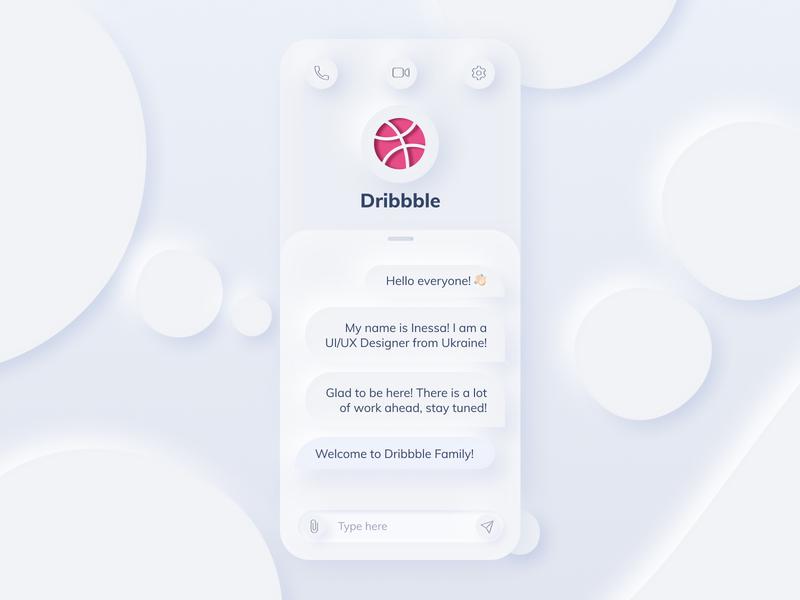 Hello, dribbble! | Skeumorphism invite skeumorphism ui app welcome shot design debut hello dribble first-shot