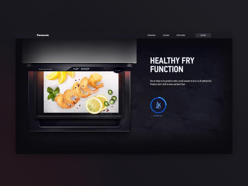 Product slider for Panasonic slider main page homepage promo site promo page promo oven panasonic web design ux ui