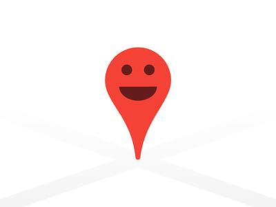 Friendly Pin happy friend icon app marker pin map