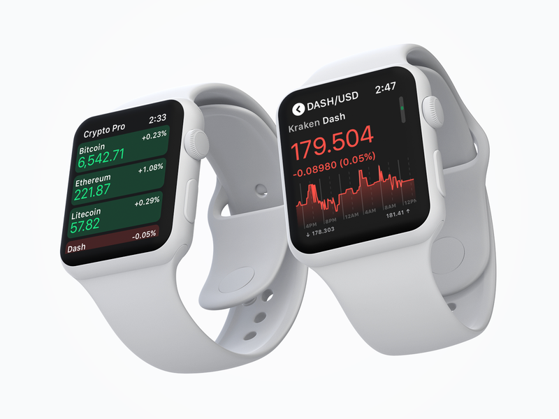 Crypto Pro™️ Apple Watch app complication series 4 dash litecoin ethereum bitcoin crypto watchos apple watch