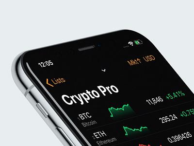 Crypto Pro™️ Sparklines sparkline graph chart ios iphone app crypto bitcoin
