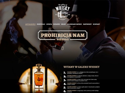 Web Design - Gallery of Whisky - Bydgoszcz