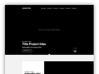 UX Prototype Website - Portfolio Agency