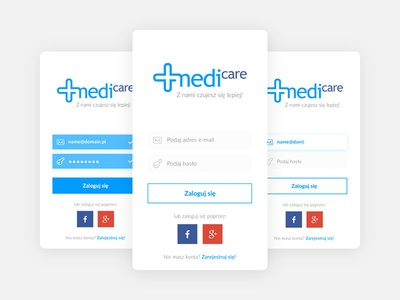 Clean Dashboard - Medicare UI/UX app - Login