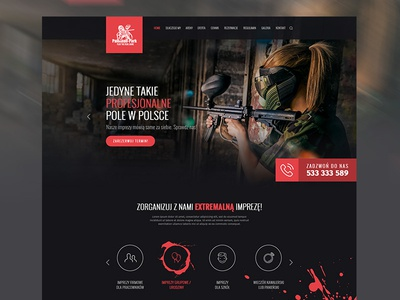 Web Design - Paintball Bydgoszcz