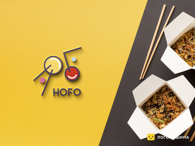 HOFO sushi meal foodie visual identity branding asian food logo food logo asian food logotype logo
