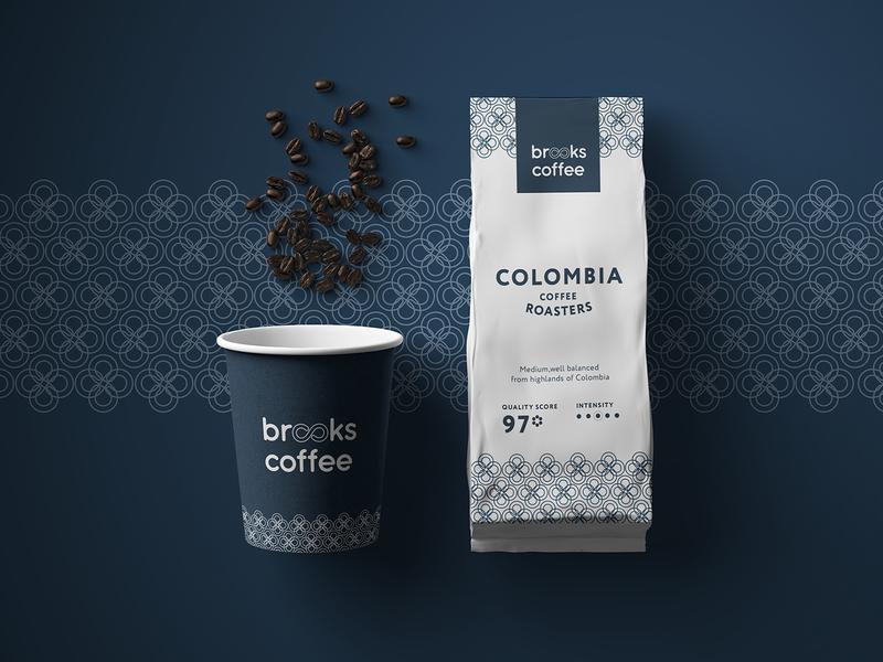 Brooks Coffee food logo branding coffee coffee shop coffee barista coffee logo coffee cup