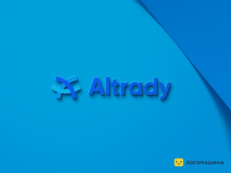 Altrady company economical logo economic financical business logotype business logo finance logo trade trading
