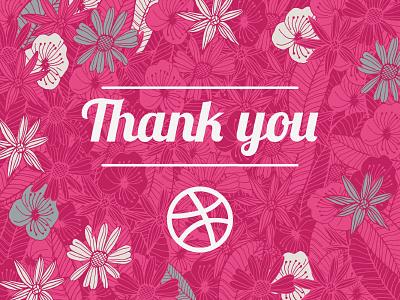 Thanks Dribbble debut dribbble thank you