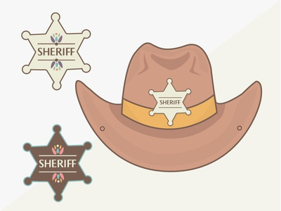 Carnaval's Mask - Sheriff  cow-boy sheriff mask goodies carnaval