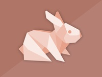 Origami Brown Rabbit