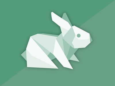 Origami Green Rabbit bunny easter origami rabbit
