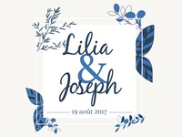 Lilia & Joseph Wedding - branding