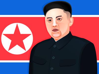 Kim Jong-Un kim jong un north korea the son of toza illustration digital art portrait vector