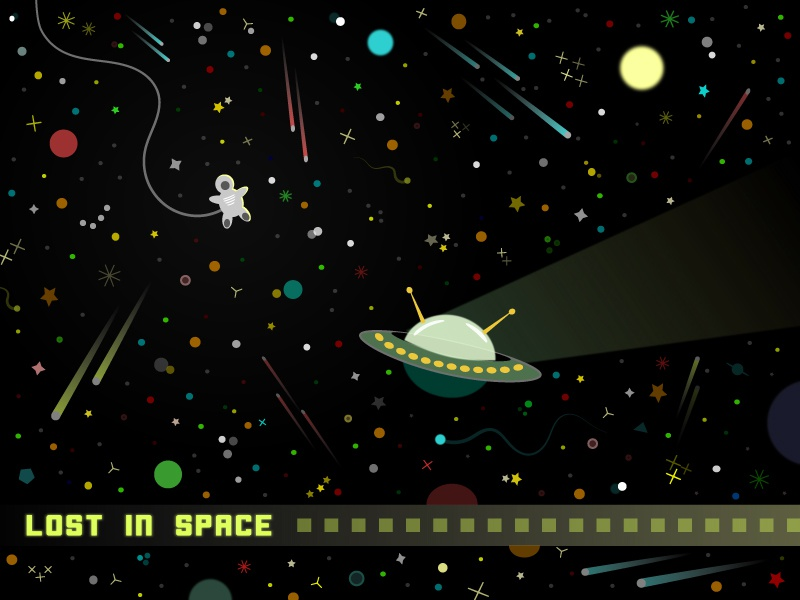 Lost in Space the son of toza alliens ufo vector universe stars astronaut illustration space