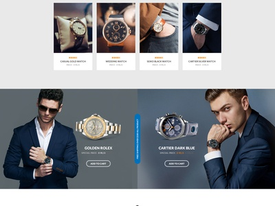 The Luxury Watch | E-Commerce web page