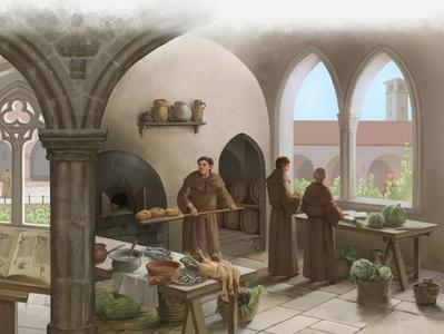 Scenes of monastic life 2