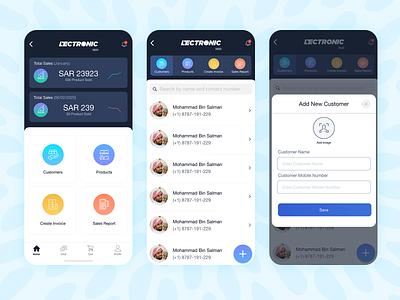 Sales App adobe xd