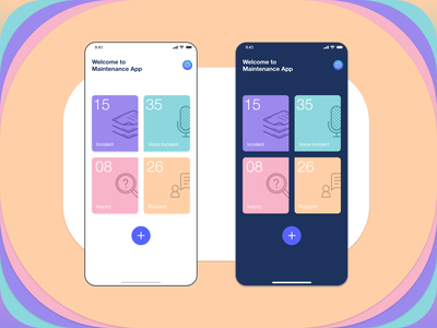 Home Page adobe xd home screen iphonex app maintenance homepage