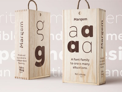 Margem – a new geometric sans with 4 FREE weights