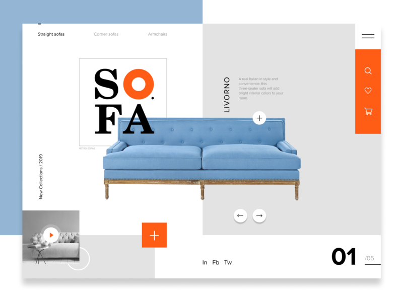 Web Design Sofa By Marianna Ustyanovska Dribbble Dribbble