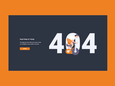 404 page by Miew vector interactive branding bike flat icon typography brand ux ui identity illustration app mobile creative interaction miew website web 404