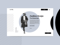 Fashion Design Homepage by Miew