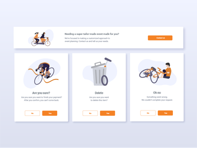 Modal Boxes by Miew minimal identity flat vector interactive illustration icon ui ux mobile modal ui ux typography design interaction uiux app miew website web