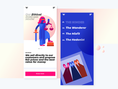 Wayz Sneakers Mobile App by Miew logo typography identity mobile gradient icon miew illustration ux ui ux uiux app branding design ui website web fashion sneakers footwear