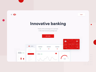 HSBC - Landing page experience analytics application stats interface crypto data