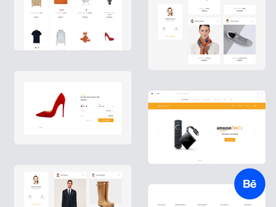 Amazon redesign concept louboutin clean minimal video case study behance motion design ux ui fashion product payment checkout wordpress shopify shop online commence