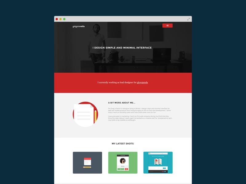 New responsive portfolio minimal responsive flat redesign personal ui webdesign website