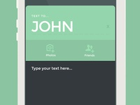 Simple message app