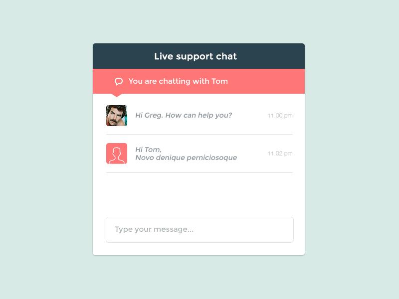 Support chat widget ui ux proxima minimal flat chat widget