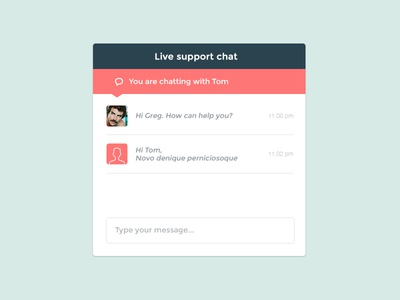 Support chat widget