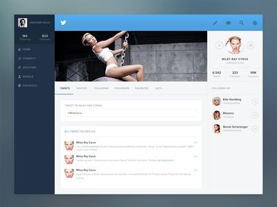 Twitter profile concept