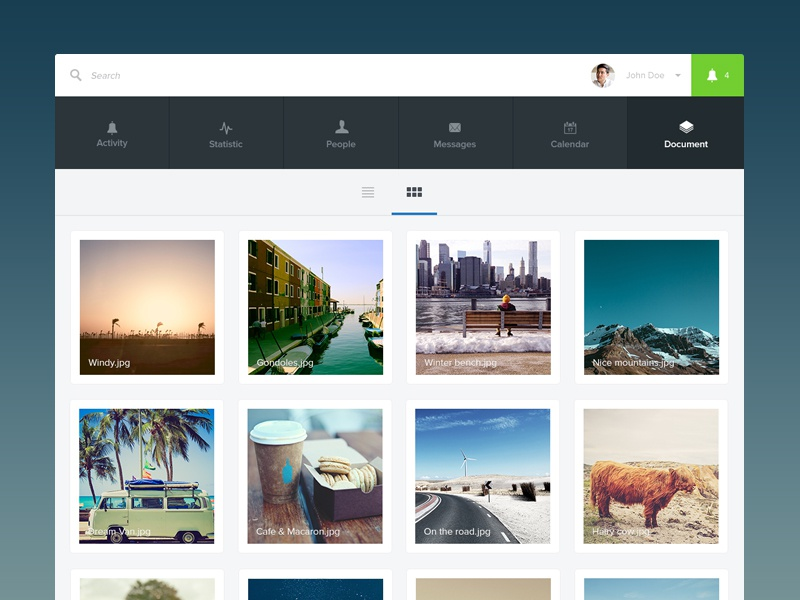 Simplissime Files cloud drive web app ui ux flat minimal simple photos box app files
