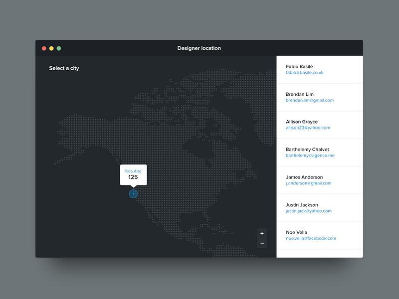 Designer maps locator 1
