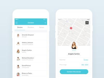 Mobile doctors screens