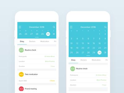 Osome calendar mobile