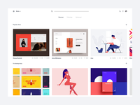 Dribbble redesign concept - Search
