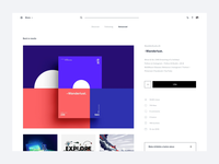 Dribbble redesign concept - Shot page
