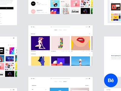 Dribbble redesign concept project case study behance after effects animation concept landing page white simple minimal redesign product design ux ui