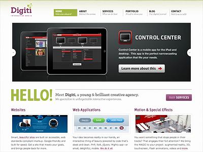 The Digiti Website digiti website agency new design development