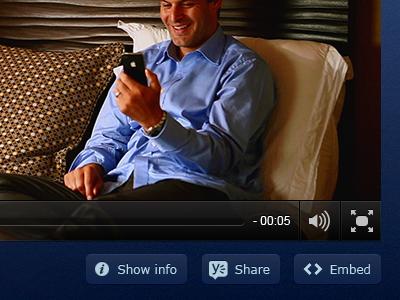 Video player digiti player blue buttons flash movie