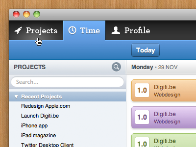 Digiti Back office digiti ui projects backoffice admin search tabs blue