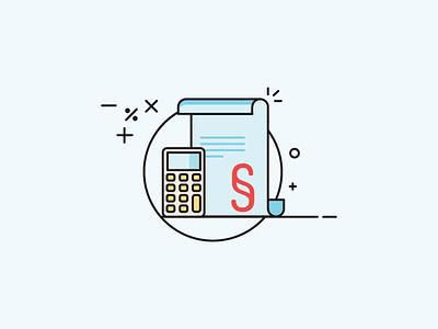 Finance calculation finance illustration