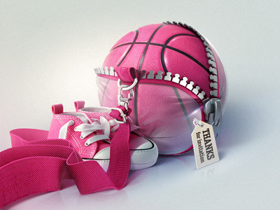 Dribbble dribbble ball illustration thanks invitation first shot debut