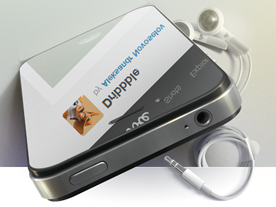 Dribbble illustration iphone headphones mirror dribbble