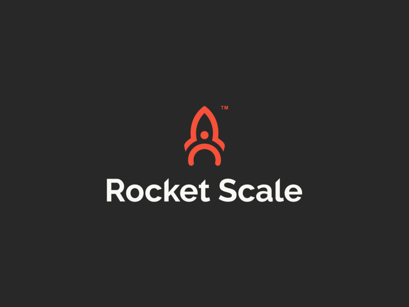 Rocket Scale business person rocket logodesign logos design dribbble branding logo